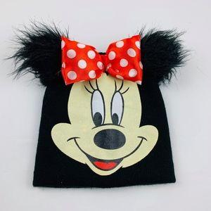 Disney Minnie Mouse Pom Bow Beanie Winter Hat